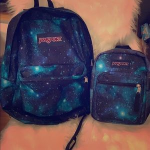 Jansport space backpack and lunch bag